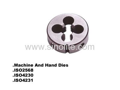 Machine and hand round thread dies ISO4230