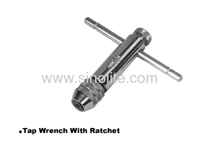 Tap wrenches with ratchet