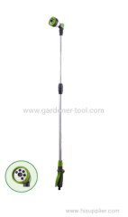 plastic garden water wand with soft plastic grip