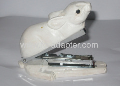 Lovely White Rabbit Shape Wooden Stapler