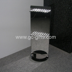 Rotary black countertop showcase for jewelry