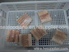 Frozen atlantic cod portions