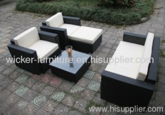 Comfortable outdoor wicker furniture sofa sets
