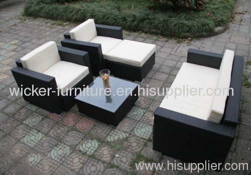 Comfortable outdoor wicker furniture sofa sets