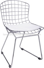 Practical Steel framed PVC cushion children side chairs seat