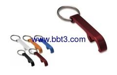 Promotional aluminum bottle opener with key ring