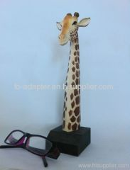 hand-carved giraff peer holder