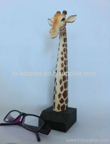 hand-carved giraff peer holder
