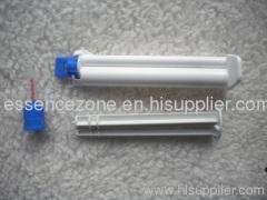 Dual barrel teeth whitening gel syringes