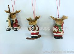 wood carving animal ornament