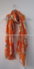 Polyester printed woven scarf for spring /summer/autumn