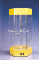 Rotary countertop acrylic display showcases
