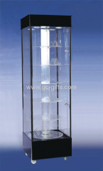 Floor square acrylic display cabinets with trundles
