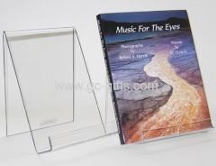 Custom acrylic countertop book holders