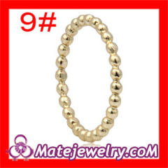 Designer Cheap Plain Gold Plated Sterling Silver Stackable Ring Wholeslae