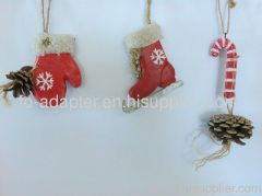 X'mas handmade wood ornament