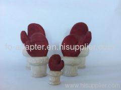 wood christmas red gloves