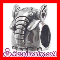 european Silver Elephant Charms Bead