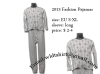 Double Mercerized 100% Cotton Woven Pajamas / Cotton Pajamas set / Flannel Pajamas