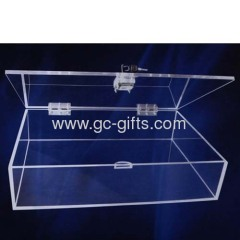 Lockable clear acrylic display boxes