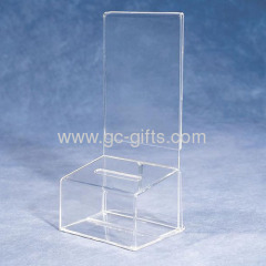 Custom clear acrylic contribution boxes