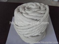 ceramic fiber twisted rope for heat insulation