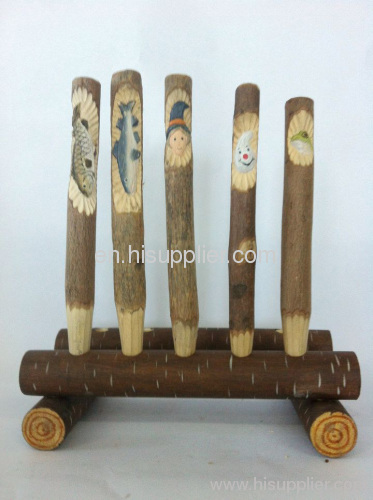 100% handcraft wood carved ball pen
