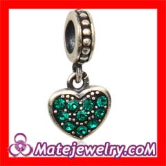 Rhinestone Crystal European Heart Dangle