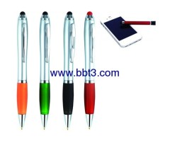 Promotional Hot Stylus ballpoint pen with color trim