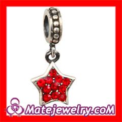 european Crystal Star Charm Beads