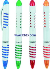 Promotion ballpen with color injection barrel