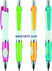 Gift plastic ballpoint pen with solid white barrel