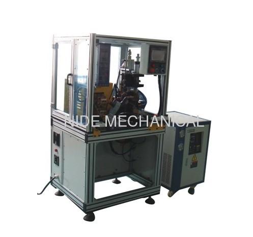 Commutator hot stacking equipment with Miyachi power