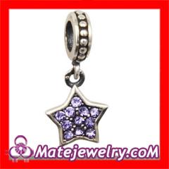 Crystal european Star Dangle Charm