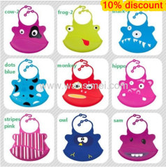 waterproof cute silicone baby bibs