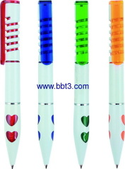 Promotion ballpoint pen with hear decoration