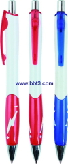 Promotion ballpoint pen with bright silver trim