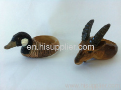 2012 handcraft wood animal napkin ring
