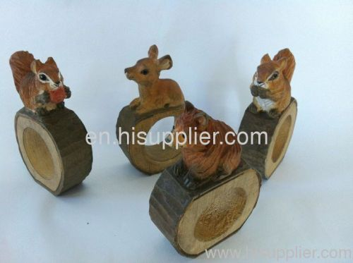 wood carving napkin ring