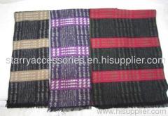Multicolor viscose jaquard woven scarf