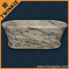 White Marble Stone Bathtub