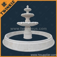 Natural White Marble Big Stone Fountain