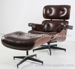 eames leisure chairs and footrest