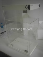 Countertop lockable acrylic display showcases