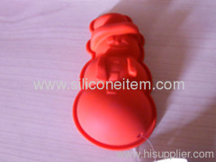 Silicon cake tools molds--snowman shape