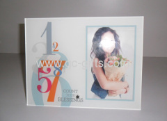 Promotional photo frames with metal stands