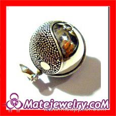 Silver Yin Yang Ball Charm Pendant