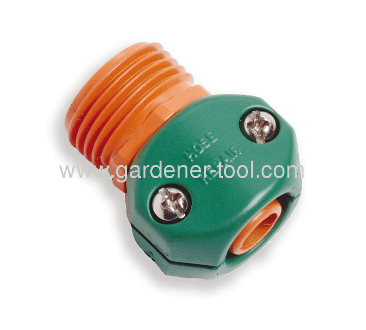 Plastic 1/2garden hose coupling with 3/4