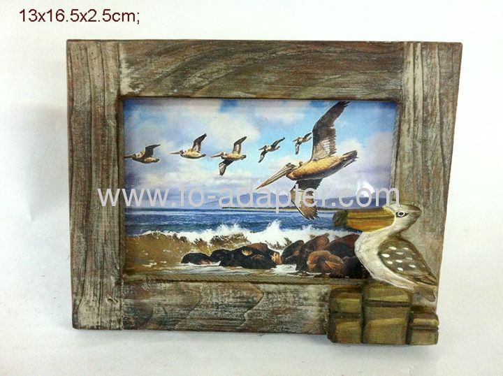 Sea Style Printing Wooden Photo Frame