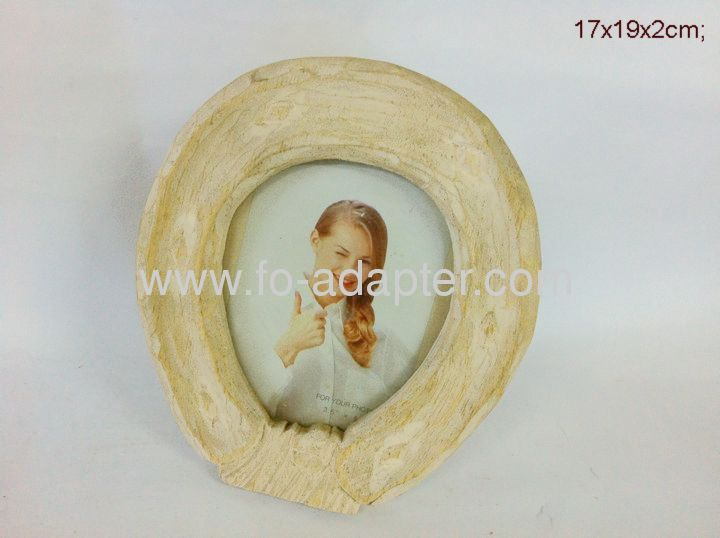 Round Skin color Wooden Photo Frame